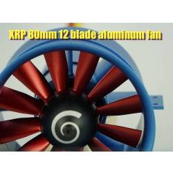 Changesun XRP 12 Blade 80mm EDF Ducted Fan + moteur 2400Kv 6S -8S (CW)