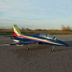 SebArt Mini MB-339 90mm Jet 1,38m + JP Hobby 90mm 8S PNP (Blue-White-Red-Green)