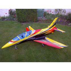 SebArt Mini Avanti S 90mm Jet 1,36m ARF (Yellow/Black/Red)