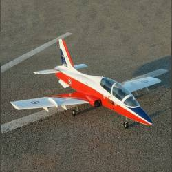 SebArt Mini MB-339 90mm Jet 1,38m + JP Hobby 90mm 8S PNP (White/Orange)