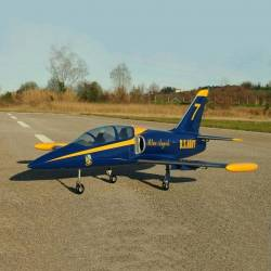 SebArt Mini Albatros L-39 90mm Jet 1,21m + JP Hobby 90mm 6S PNP (Blue Angels)