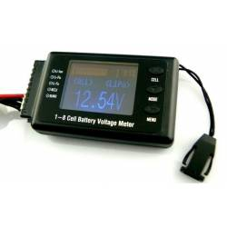 BVM 8S LiPO Battery Voltage Capacity Tester LiPo LiFe Nimh NiCd Pb
