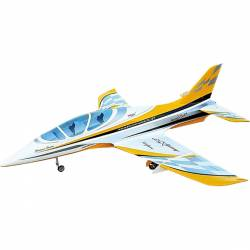 SebArt Avanti XS 120mm Jet 1.9m + JP Hobby 120mm 12S (White/Yellow/Gold) PNP (with retracts)