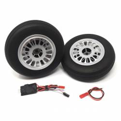 JP Hobby Electric Brake with 2x 136/36mm Wheels (8mm axle)
