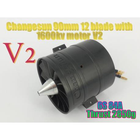 Changesun 12 Blade 90mm EDF Ducted Fan + 1600kv V2 motor 6S