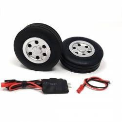 JP Hobby Electric Brake with 2x 70/25mm Wheels (4mm axle)