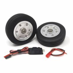 """JP Hobby Electric Brake with 2x 82.5/25mm (3"""" 1/4) Wheels (8mm axle)"""