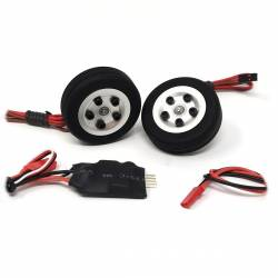 JP Hobby Electric Brake with 2x 45/14mm Wheels (4mm axle)