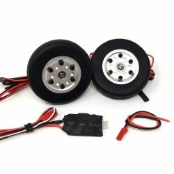 JP Hobby Electric Brake with 2x 50/16mm Wheels (4mm axle)