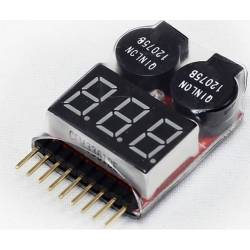 2 in1 1-8s lipo voltage checker & low volage buzzer