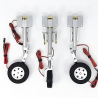 JP Hobby ER-120 S Tricycle Full Set with Brakes (Black Horse Viper Jet or planes up to 12kg) + Sequencer