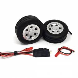 JP Hobby Electric Brake with 2x 70/25mm Wheels (5mm axle)