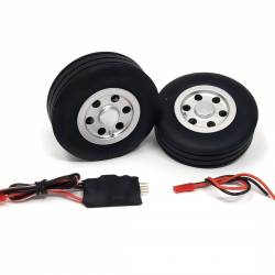 JP Hobby Electric Brake with 2x 75/25mm Wheels (4mm axle)