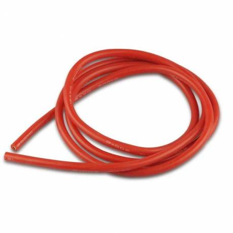 Cable Silicone Souple Rouge 12 AWG 3.3mm² (1 mètre)