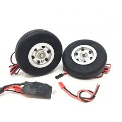 JP Hobby Electric Brake with 2x 75/20mm Wheels (5mm axle)