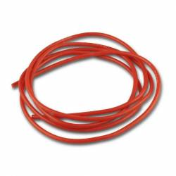 Cable Silicone Souple Rouge 18 AWG 0.82mm² (1 mètre)