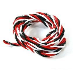 Cable 3 Core Servo Cable Twisted Futaba Type 0.30mm² (1 meter)