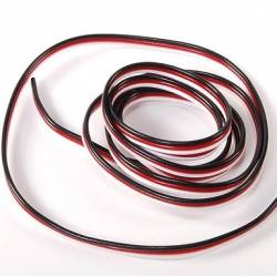 Cable 3 Core Light Servo Cable Flat Futaba Type 0.10mm² (1 meter)