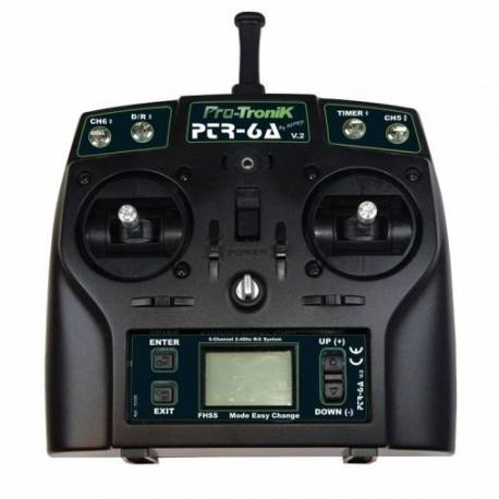 Programmable PTR-6A Pro-Tronik V2 2.4Ghz RC Radio System (6 channels)