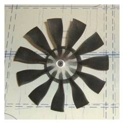 Rotor Turbine EDF Ejets JETFAN-120mm ECO 11 pales (adapt. 8mm)