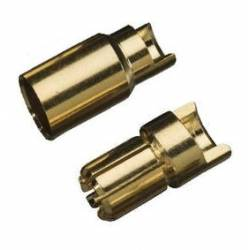 6mm Gold Plug Male/Female