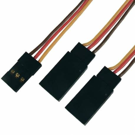 Cordon Y servo 12cm JR (cable plat)