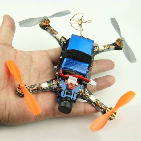 Micro Quadcopter Drone Multirotor FPV Racer HERMIT 145mm  BNF (version basse latence)