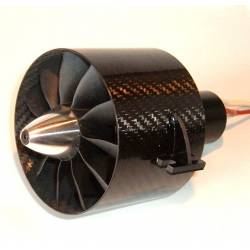Turbine EDF Ejets JETFAN-100 PRO 100mm 11 pales Carbone (adapt. 8mm)