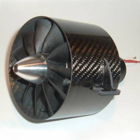 Turbine EDF Ejets JETFAN-110 PRO 110mm 11 pales Carbone (adapt. 8mm)
