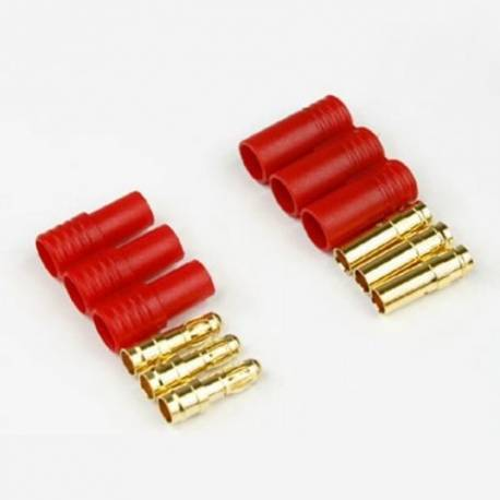 HXT 3.5mm 3 wire Gold connector for motor (1 pair)