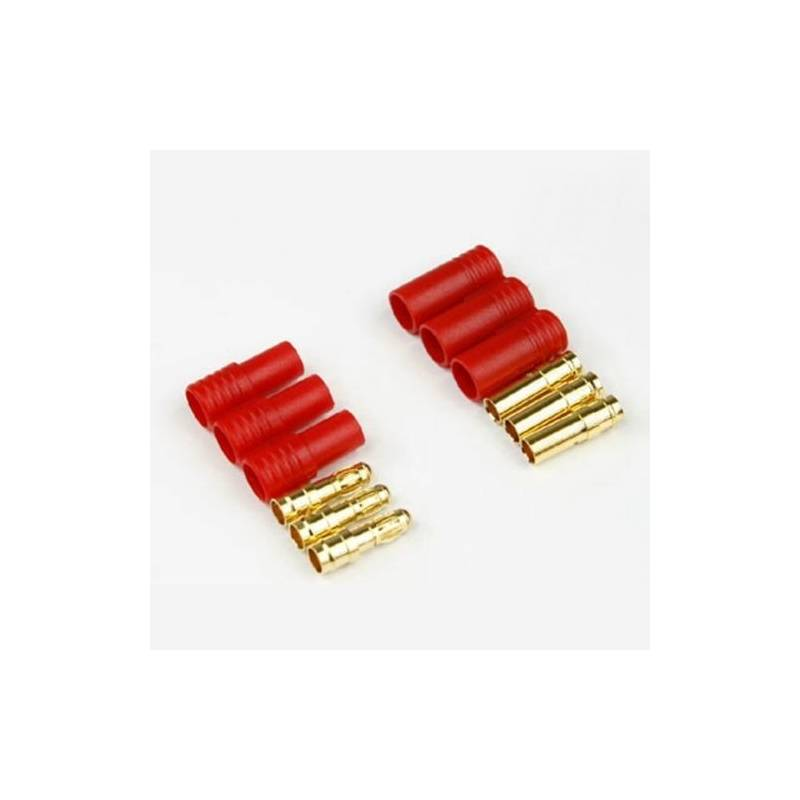 HXT 3.5mm 3 wire Gold connector for motor (1 pair) - Turbines RC ...