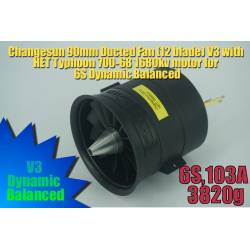 Changesun 12 Blade 90mm V3 EDF Ducted Fan + HET 1680kv motor 6S