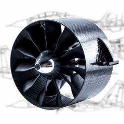 Ducted Fan EDF JETFAN-110 Pro Ejets 110mm Carbon  (adapt. 5mm)