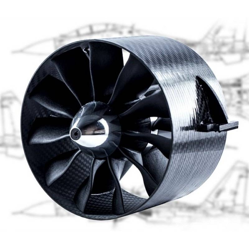 ducted fan edf jetfan 120 pro ejets 120mm carbon adapt 8mm turbines rc. Black Bedroom Furniture Sets. Home Design Ideas