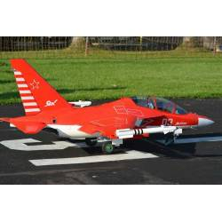Freewing Yak-130 Super Scale 90mm Jet PNP 8S (Rouge)
