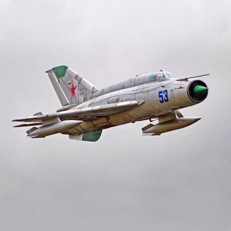 Freewing MIG-21 80mm Jet PNP (Silver)