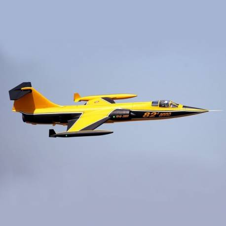 Freewing F-104 Starfighter 90mm Jet PNP (3 axis gyro) (Jaune)