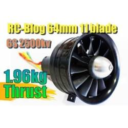 Changesun RC Blog 12 Blade 64mm EDF Ducted Fan + 2500Kv Motor 6S