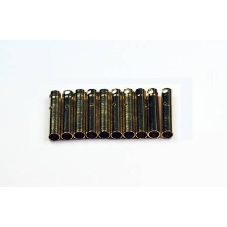 Prise 4mm Or Femelle Tube (10 pièces)