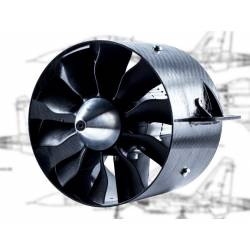 Turbine EDF Ejets JETFAN-130 PRO 130mm 11 pales Carbone (adapt. 8mm)