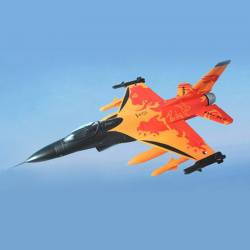 Sky Flight Hobby F-16 Fighting Falcon 70mm Jet Poussée vectorielle PNP (Orange)