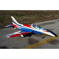 SebArt Mini Avanti S 90mm Jet 1,36m + JP Hobby 90mm 8S PNP (Blue/White/Red)